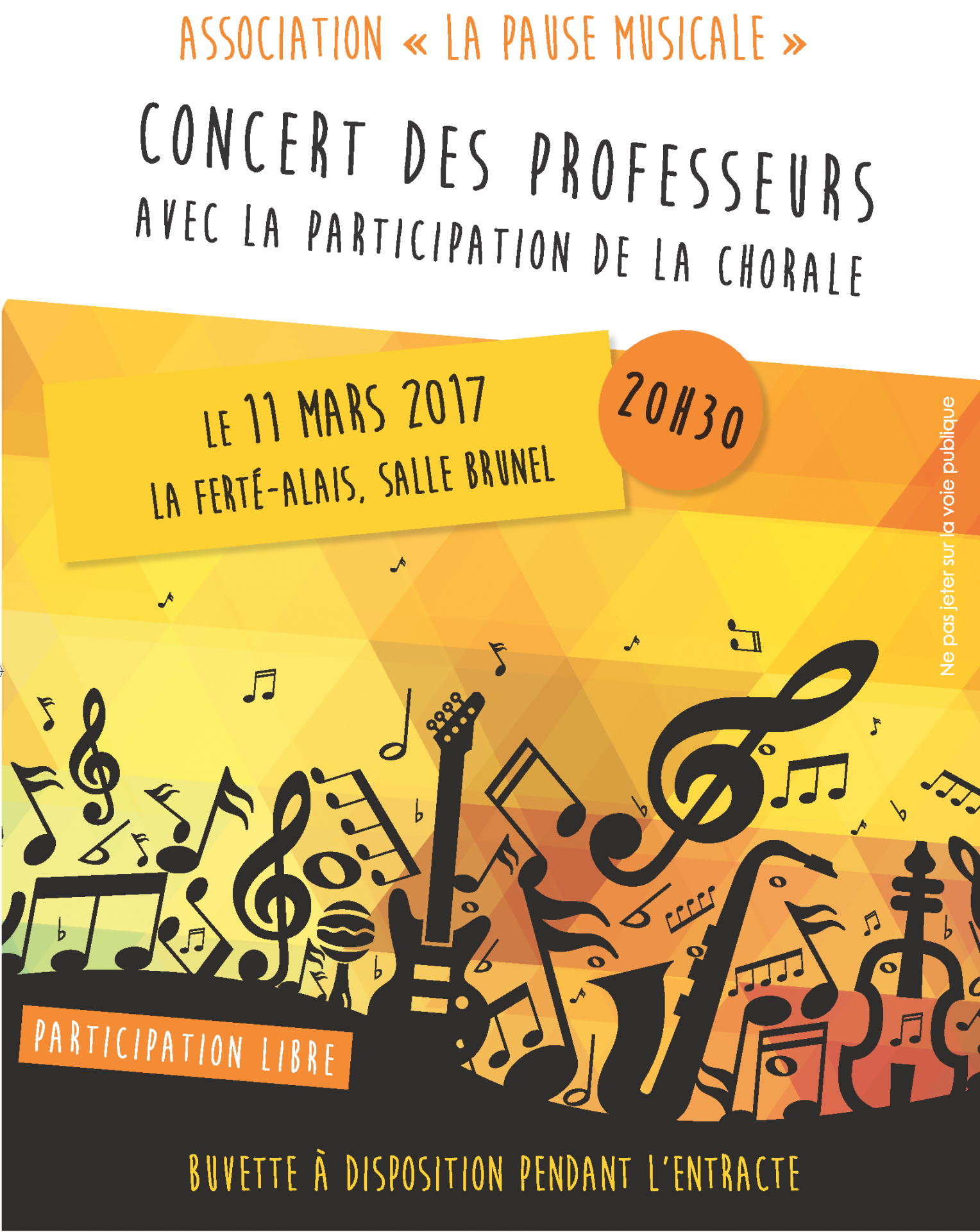 Affichette asso pause musicale a4 impression
